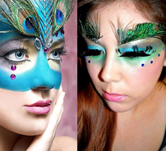 20 Peacock Feather Inspired Eye Make Up Designs Ideas Looks 19 20 + Peacock Feather Inspired Eye Make Up Designs, Ideas & Looks
