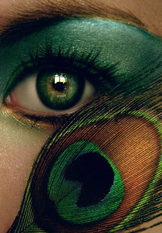 20 Peacock Feather Inspired Eye Make Up Designs Ideas Looks 2 20 + Peacock Feather Inspired Eye Make Up Designs, Ideas & Looks