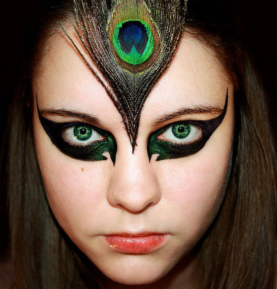 20 Peacock Feather Inspired Eye Make Up Designs Ideas Looks 20 20 + Peacock Feather Inspired Eye Make Up Designs, Ideas & Looks