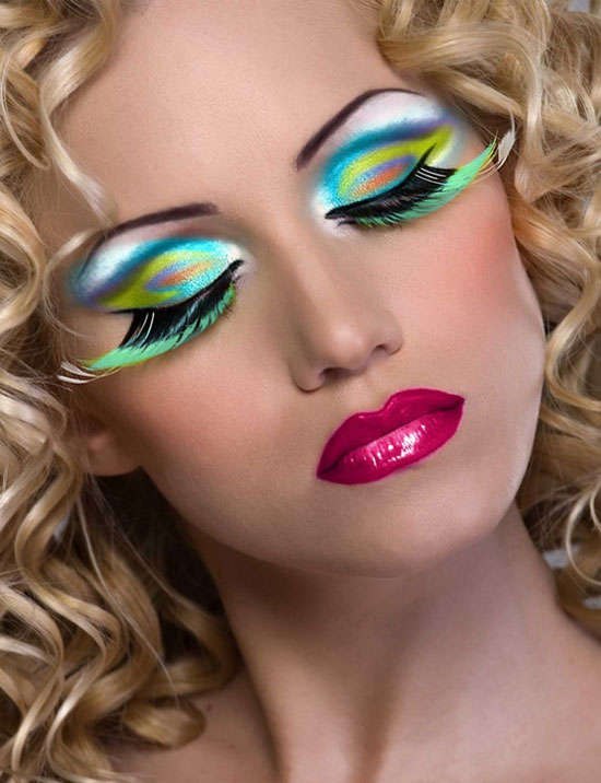 20 Peacock Feather Inspired Eye Make Up Designs Ideas Looks 21 20 + Peacock Feather Inspired Eye Make Up Designs, Ideas & Looks