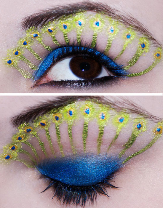 20 Peacock Feather Inspired Eye Make Up Designs Ideas Looks 22 20 + Peacock Feather Inspired Eye Make Up Designs, Ideas & Looks