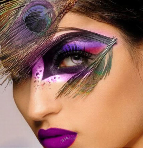 20 Peacock Feather Inspired Eye Make Up Designs Ideas Looks 3 20 + Peacock Feather Inspired Eye Make Up Designs, Ideas & Looks