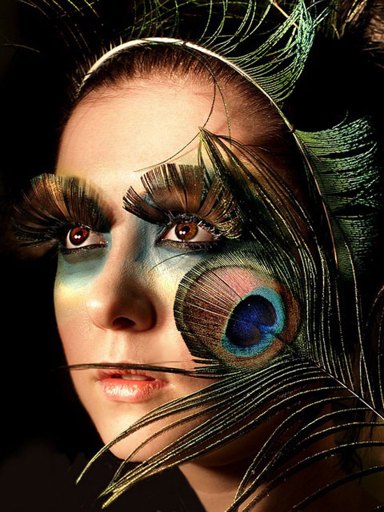 20 Peacock Feather Inspired Eye Make Up Designs Ideas Looks 4 20 + Peacock Feather Inspired Eye Make Up Designs, Ideas & Looks