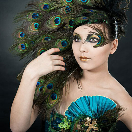20 Peacock Feather Inspired Eye Make Up Designs Ideas Looks 5 20 + Peacock Feather Inspired Eye Make Up Designs, Ideas & Looks