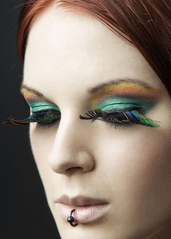 20 Peacock Feather Inspired Eye Make Up Designs Ideas Looks 6 20 + Peacock Feather Inspired Eye Make Up Designs, Ideas & Looks