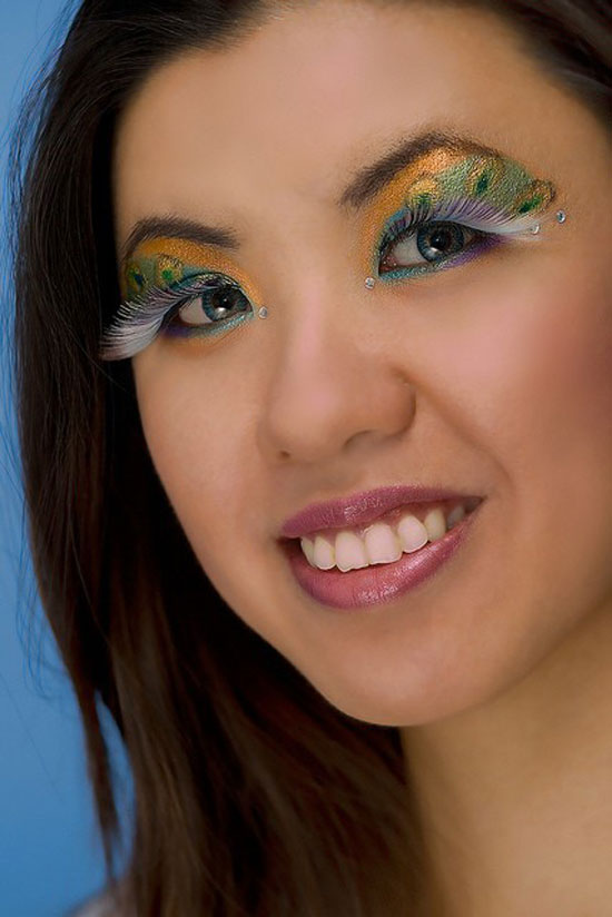 20 Peacock Feather Inspired Eye Make Up Designs Ideas Looks 8 20 + Peacock Feather Inspired Eye Make Up Designs, Ideas & Looks