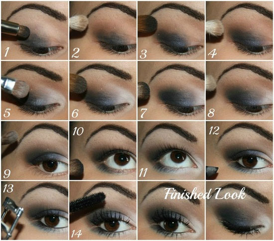Blue Smokey Eye make Up Ideas Looks Of 2012 1 25   Best Blue Smokey    Smokey Eye Tutorial Step By Step For Blue Eyes