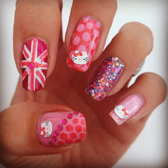Nails design london beautify themselves with sweet nails london olympics 2012 nail art designs supplies amp stickers girlsh prinsesfo Image collections
