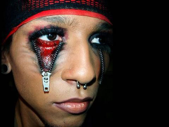 15 Scary Halloween Face Make Up Looks amp Ideas 2012 Girlshue