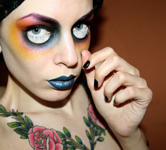 15 Scary Halloween Face Make Up Looks &amp Ideas 2012 Girlshue - Make Up De Halloween