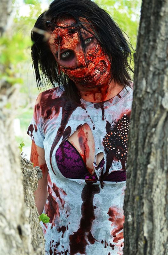 25 Best Crazy Scary Halloween Make Up Looks Ideas 2012 For Girls Women 1 25 Best, Crazy & Scary Halloween Make Up Looks & Ideas 2012 For Girls & Women