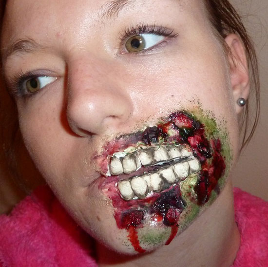 25 Best Crazy Scary Halloween Make Up Looks Ideas 2012 For Girls Women 13 25 Best, Crazy & Scary Halloween Make Up Looks & Ideas 2012 For Girls & Women