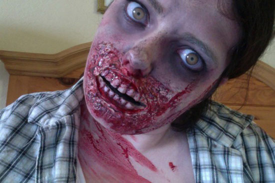 25 Best Crazy Scary Halloween Make Up Looks Ideas 2012 For Girls Women 15 25 Best, Crazy & Scary Halloween Make Up Looks & Ideas 2012 For Girls & Women