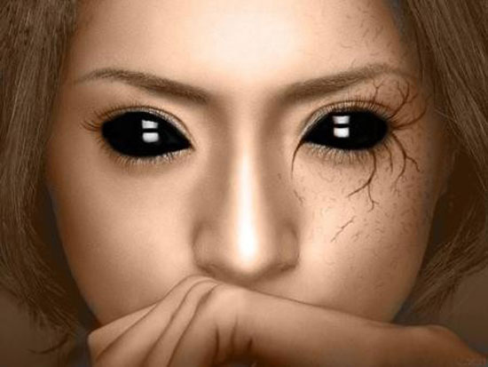 25 Best Crazy Scary Halloween Make Up Looks Ideas 2012 For Girls Women 17 25 Best, Crazy & Scary Halloween Make Up Looks & Ideas 2012 For Girls & Women