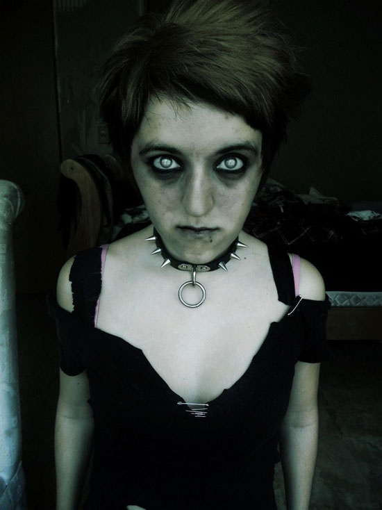 25 Best Crazy Scary Halloween Make Up Looks Ideas 2012 For Girls Women 2 25 Best, Crazy & Scary Halloween Make Up Looks & Ideas 2012 For Girls & Women