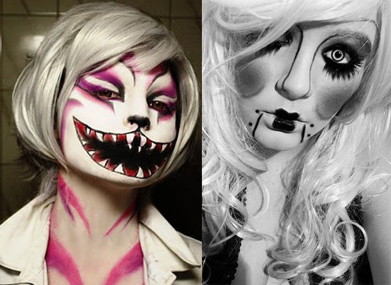 25 Best Crazy Scary Halloween Make Up Looks Ideas 2012 For Girls Women 20 25 Best, Crazy & Scary Halloween Make Up Looks & Ideas 2012 For Girls & Women