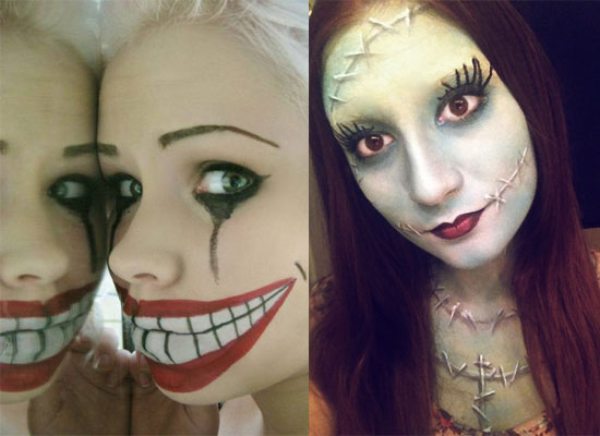 25 Best Crazy Scary Halloween Make Up Looks Ideas 2012 For Girls Women 21 25 Best, Crazy & Scary Halloween Make Up Looks & Ideas 2012 For Girls & Women