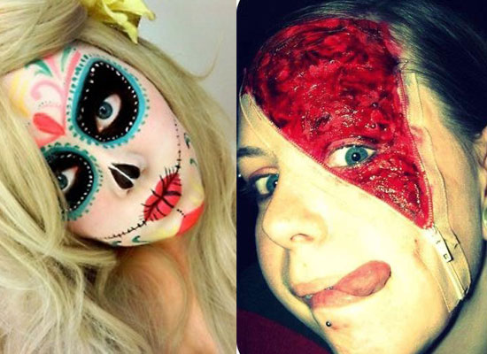 25 Best Crazy Scary Halloween Make Up Looks Ideas 2012 For Girls Women 22 25 Best, Crazy & Scary Halloween Make Up Looks & Ideas 2012 For Girls & Women