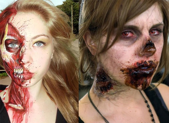 25 Best Crazy Scary Halloween Make Up Looks Ideas 2012 For Girls Women 24 25 Best, Crazy & Scary Halloween Make Up Looks & Ideas 2012 For Girls & Women