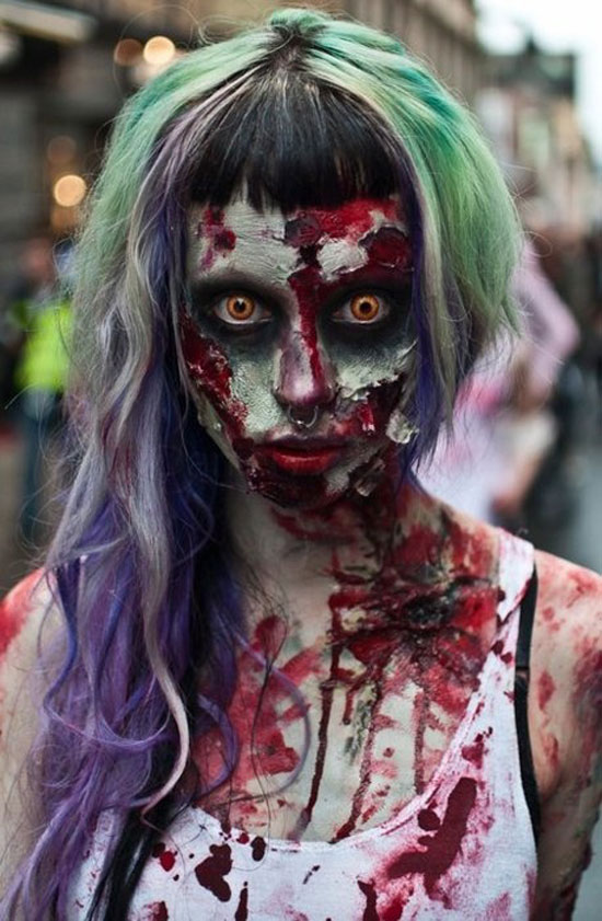 25 Best Crazy Scary Halloween Make Up Looks Ideas 2012 For Girls Women 4 25 Best, Crazy & Scary Halloween Make Up Looks & Ideas 2012 For Girls & Women