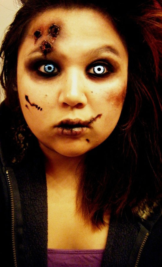 25 Best Crazy Scary Halloween Make Up Looks Ideas 2012 For Girls Women 6 25 Best, Crazy & Scary Halloween Make Up Looks & Ideas 2012 For Girls & Women