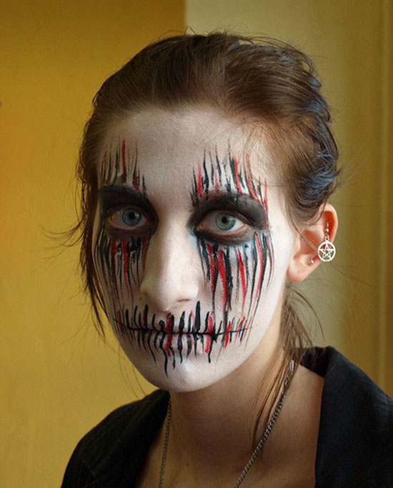 25 Best Crazy Scary Halloween Make Up Looks Ideas 2012 For Girls Women 8 25 Best, Crazy & Scary Halloween Make Up Looks & Ideas 2012 For Girls & Women