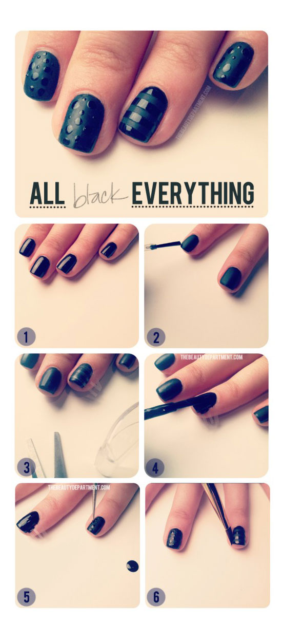 Black Nail Design Tutorial