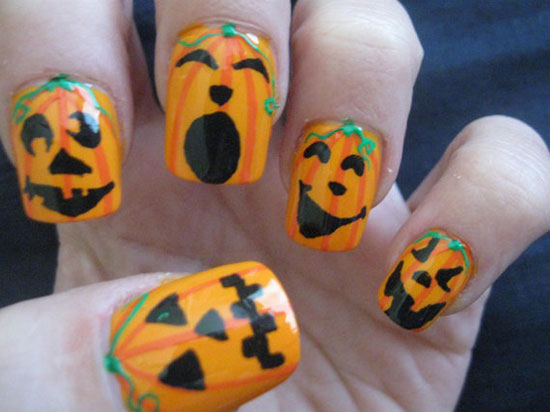 25 Best Scary Halloween Nail Art Designs Ideas 2012 15 25 Best & Scary Halloween Nail Art Designs & Ideas 2012