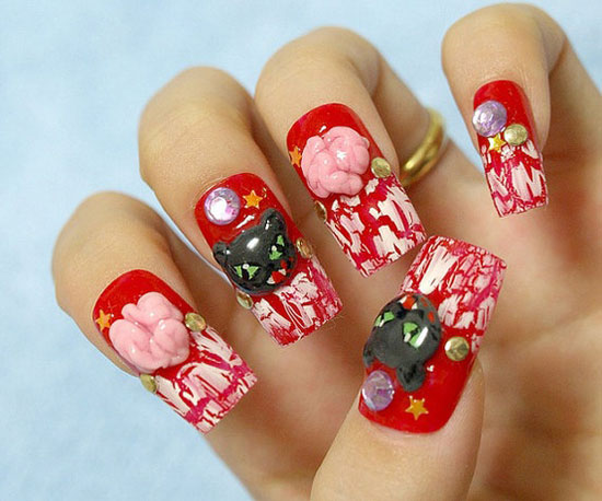 25 Best Scary Halloween Nail Art Designs Ideas 2012 17 25 Best & Scary Halloween Nail Art Designs & Ideas 2012