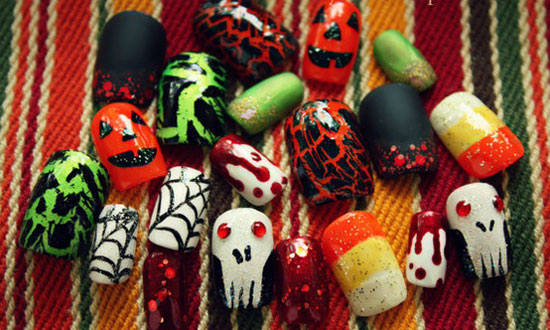 25 Best Scary Halloween Nail Art Designs Ideas 2012 21 25 Best & Scary Halloween Nail Art Designs & Ideas 2012