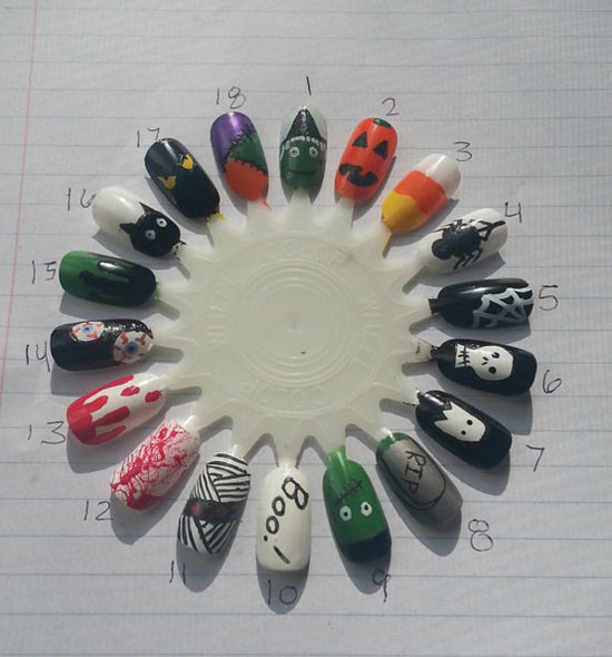 25 Best Scary Halloween Nail Art Designs Ideas 2012 22 25 Best & Scary Halloween Nail Art Designs & Ideas 2012