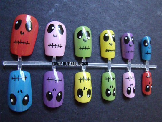 25 Best Scary Halloween Nail Art Designs Ideas 2012 4 25 Best & Scary Halloween Nail Art Designs & Ideas 2012