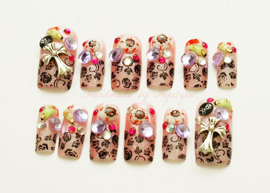 25 Best Scary Halloween Nail Art Designs Ideas 2012 5 25 Best & Scary Halloween Nail Art Designs & Ideas 2012