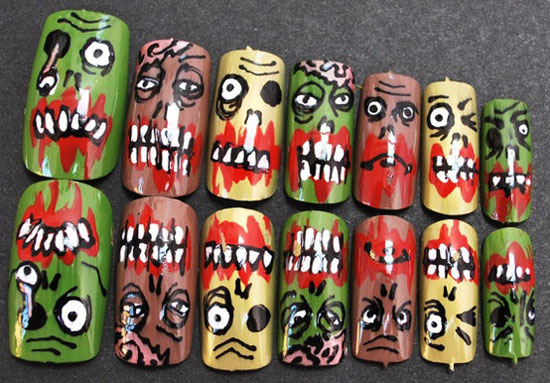 25 Best Scary Halloween Nail Art Designs Ideas 2012 6 25 Best & Scary Halloween Nail Art Designs & Ideas 2012