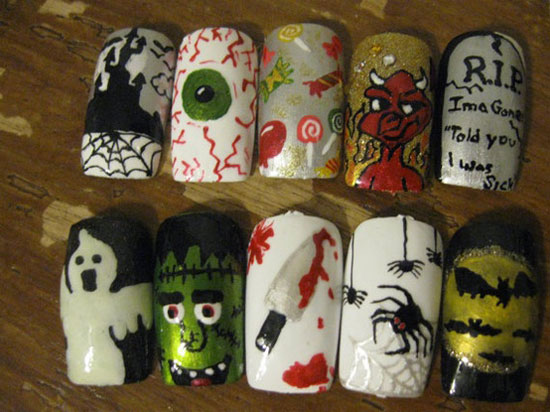 25 Best Scary Halloween Nail Art Designs Ideas 2012 8 25 Best & Scary Halloween Nail Art Designs & Ideas 2012