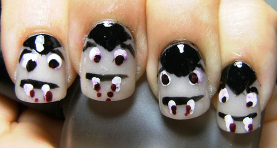 25 Simple Easy Scary Halloween Nail Art Designs Ideas Pictures 2012 11 25 Simple, Easy & Scary Halloween Nail Art Designs, Ideas & Pictures 2012