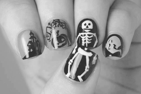 25 Simple Easy Scary Halloween Nail Art Designs Ideas Pictures 2012 15 25 Simple, Easy & Scary Halloween Nail Art Designs, Ideas & Pictures 2012