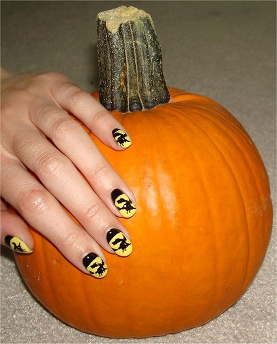 25 Simple Easy Scary Halloween Nail Art Designs Ideas Pictures 2012 17 25 Simple, Easy & Scary Halloween Nail Art Designs, Ideas & Pictures 2012
