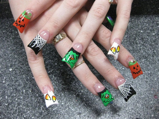 25 Simple Easy Scary Halloween Nail Art Designs Ideas Pictures 2012 18 25 Simple, Easy & Scary Halloween Nail Art Designs, Ideas & Pictures 2012