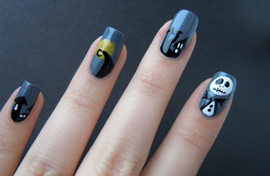 25 Simple Easy Scary Halloween Nail Art Designs Ideas Pictures 2012 19 25 Simple, Easy & Scary Halloween Nail Art Designs, Ideas & Pictures 2012