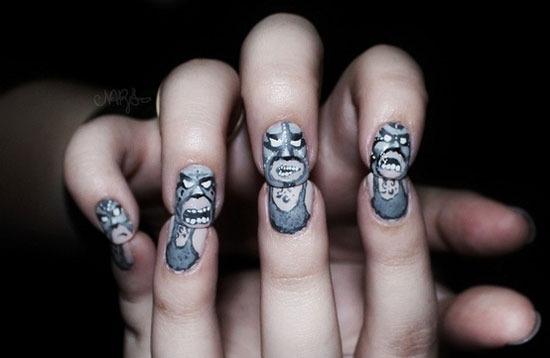25 Simple Easy Scary Halloween Nail Art Designs Ideas Pictures 2012 21 25 Simple, Easy & Scary Halloween Nail Art Designs, Ideas & Pictures 2012