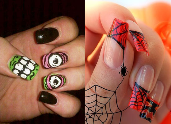 25 Simple Easy Scary Halloween Nail Art Designs Ideas Pictures 2012 23 25 Simple, Easy & Scary Halloween Nail Art Designs, Ideas & Pictures 2012