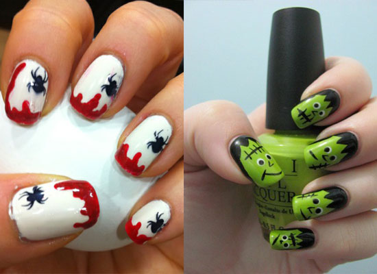25 Simple Easy Scary Halloween Nail Art Designs Ideas Pictures 2012 24 25 Simple, Easy & Scary Halloween Nail Art Designs, Ideas & Pictures 2012