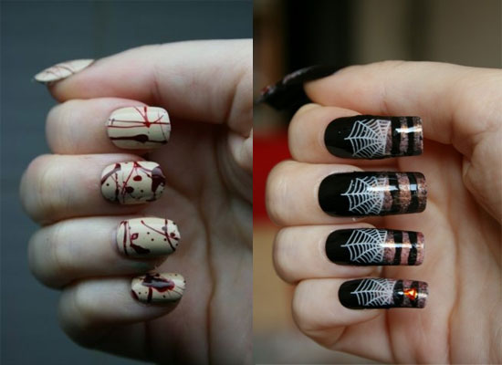 25 Simple Easy Scary Halloween Nail Art Designs Ideas Pictures 2012 25 25 Simple, Easy & Scary Halloween Nail Art Designs, Ideas & Pictures 2012