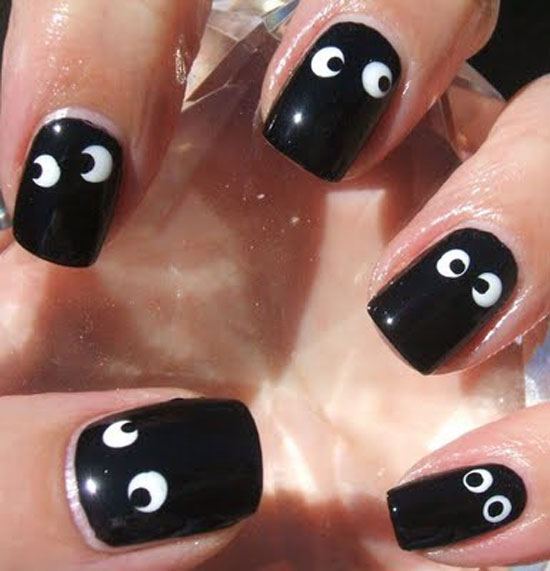 Ideas Of Nail Art: 25 Simple, Easy & Scary Halloween Nail Art Designs, Ideas