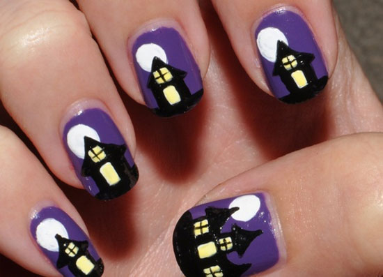 25 Simple Easy Scary Halloween Nail Art Designs Ideas Pictures 2012 5 25 Simple, Easy & Scary Halloween Nail Art Designs, Ideas & Pictures 2012