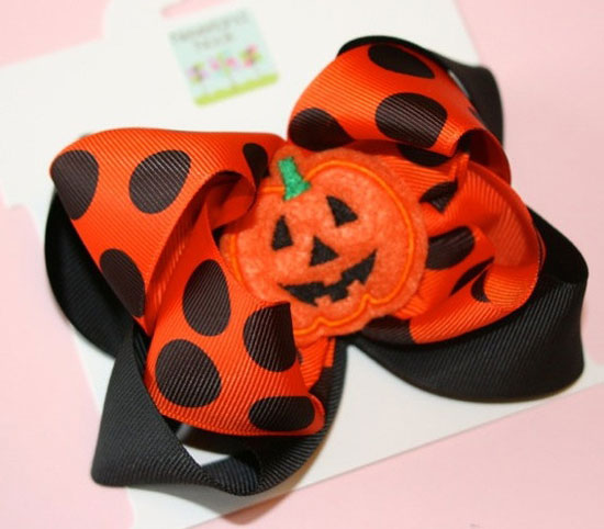 30 Best Scary Unique Halloween Hair Bows Clips 2012 For Girls Kids 1 30 Best, Scary & Unique Halloween Hair Bows & Clips 2012 For Girls & Kids