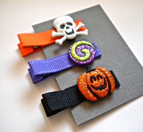 30 Best Scary Unique Halloween Hair Bows Clips 2012 For Girls Kids 11 30 Best, Scary & Unique Halloween Hair Bows & Clips 2012 For Girls & Kids