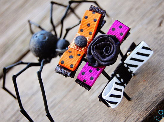 30 Best Scary Unique Halloween Hair Bows Clips 2012 For Girls Kids 17 30 Best, Scary & Unique Halloween Hair Bows & Clips 2012 For Girls & Kids