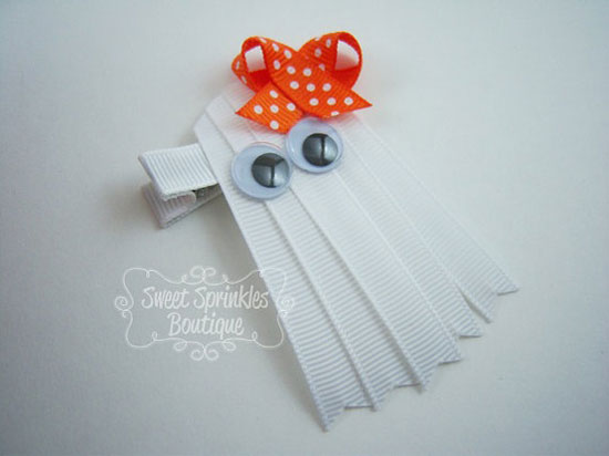 30 Best Scary Unique Halloween Hair Bows Clips 2012 For Girls Kids 18 30 Best, Scary & Unique Halloween Hair Bows & Clips 2012 For Girls & Kids